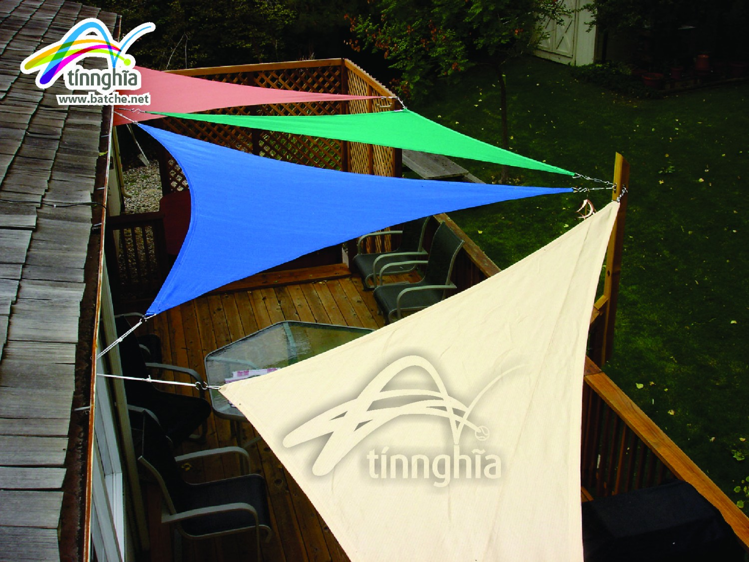 Triagle Shade Sails for Cafe