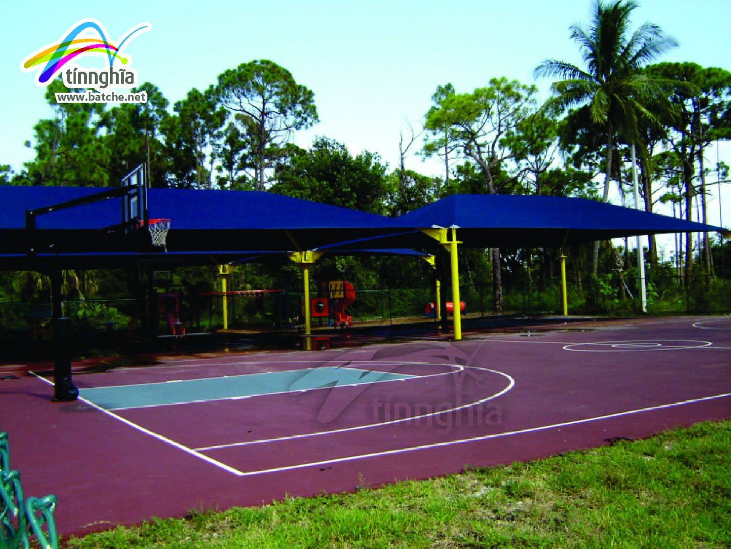 Tennis Court Shade Sails - USA Standard