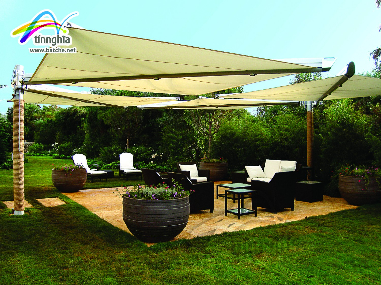 Kite Shade Sails for Garden