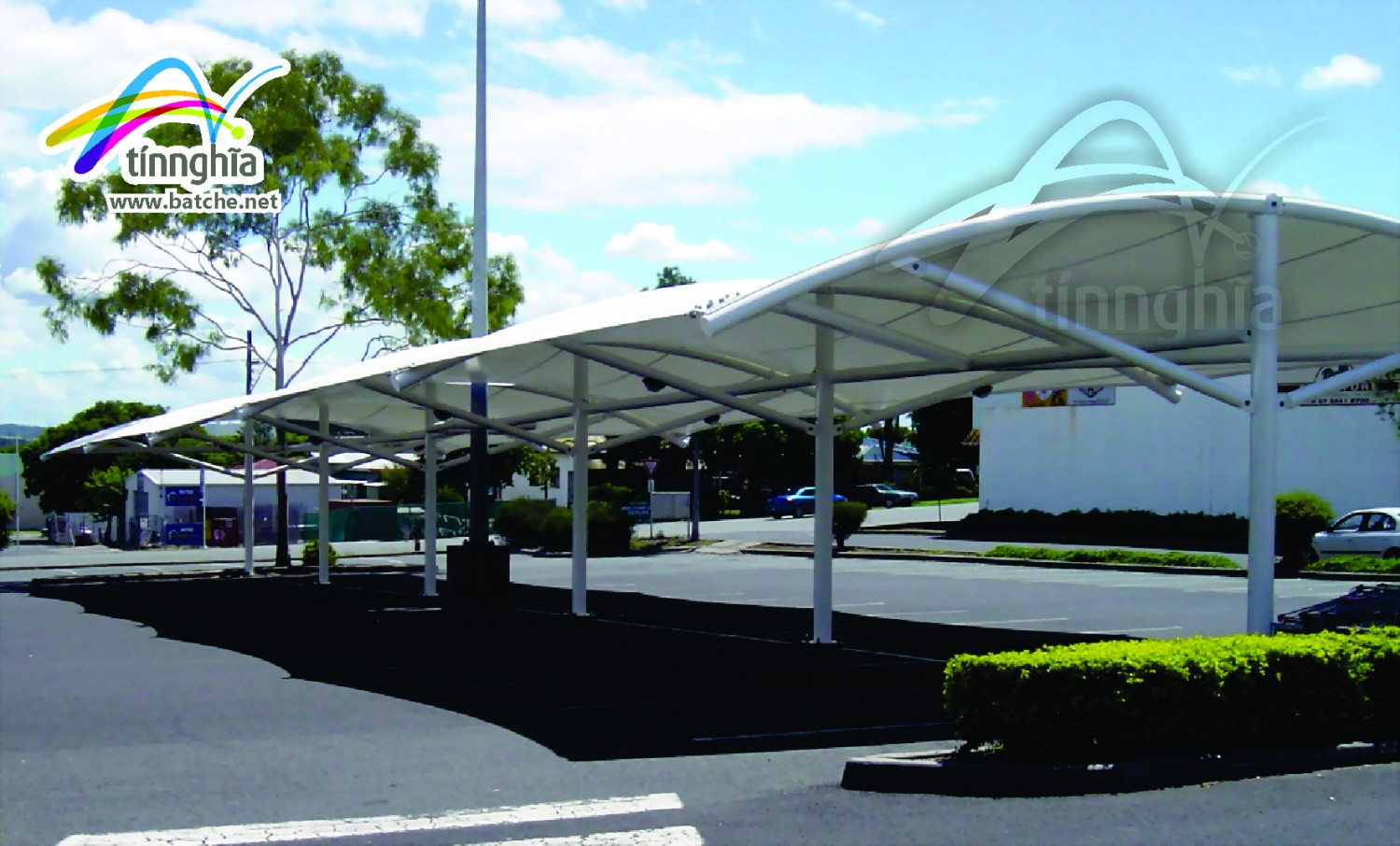 Shade Sails for Stadium Garage